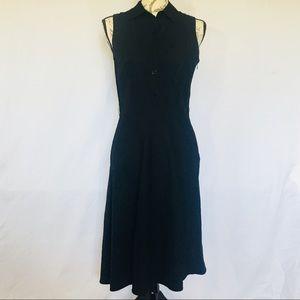 Ann Taylor LOFT   Black linen dress size 6